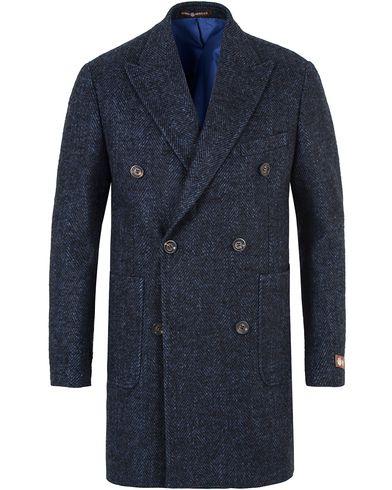 Morris Heritage Herringbone Coat Blazer Navy i gruppen Jakker / Vinterjakker hos Care of Carl (13330411r)