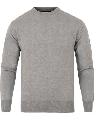 La Martina Raffael Knitted Crew Neck Grey i gruppen Gensere / Strikkede gensere hos Care of Carl (13331811r)
