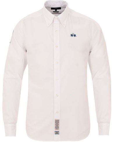 La Martina Slim Fit Polin Shirt White i gruppen Kläder / Skjortor / Oxfordskjortor hos Care of Carl (13331911r)