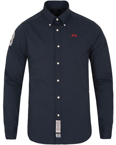 La Martina Slim Fit Polin Shirt Navy i gruppen Kläder / Skjortor / Oxfordskjortor hos Care of Carl (13332011r)