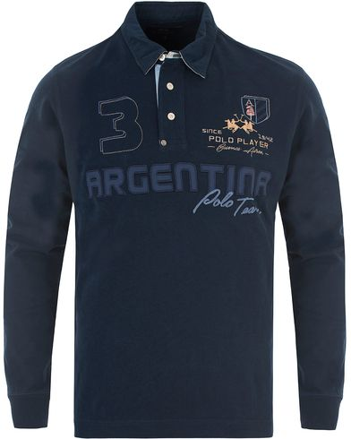 La Martina Isidore Rugby Navy i gruppen Gensere / Rugbygensere hos Care of Carl (13332611r)