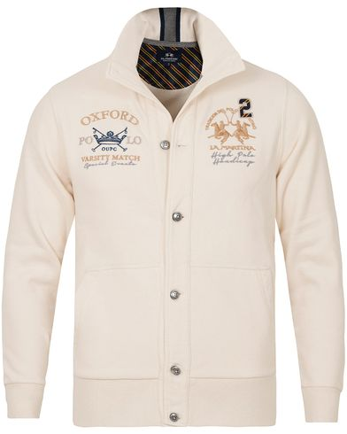 La Martina Prince Cardigan Sweater White i gruppen Gensere / Cardigans hos Care of Carl (13333211r)