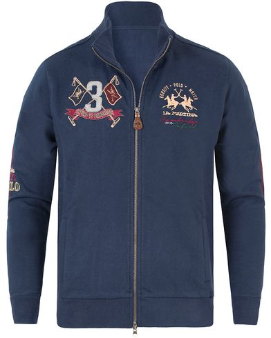 La Martina Barrie Full Zip Sweater Navy i gruppen Gensere / Zip-gensere hos Care of Carl (13333311r)