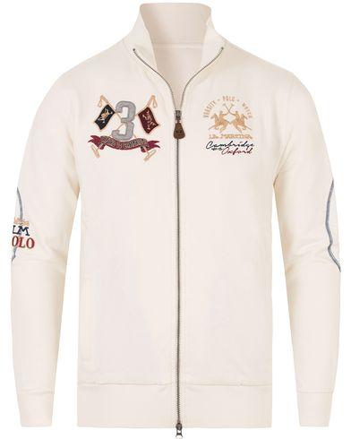 La Martina Barrie Full Zip Sweater Off White i gruppen Design A / Gensere / Zip-gensere hos Care of Carl (13333411r)