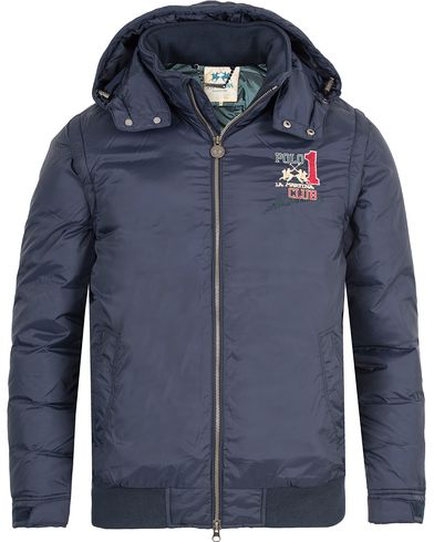 La Martina Walted Down Jacket Navy i gruppen Klær / Jakker / Vatterte jakker hos Care of Carl (13333711r)