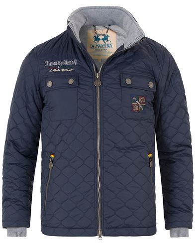 La Martina Edric Quilted Jacket Navy i gruppen Jackor / Quiltade jackor hos Care of Carl (13333811r)