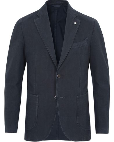 L.B.M. 1911 Jack Regular Cotton Herringbone Blazer Navy i gruppen Klær / Dressjakker / Enkeltspente dressjakker hos Care of Carl (13334411r)