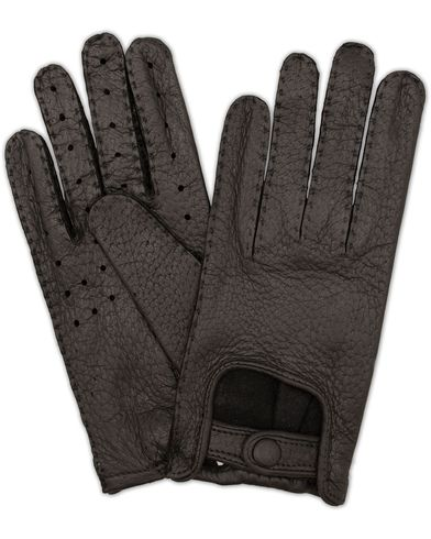 Hestra Peccary Driving Gloves Black i gruppen Assesoarer / Hansker hos Care of Carl (13334811r)