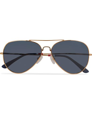 Orlebar Brown OB9C7SUN Sunglasses Yellow Gold/Blue  i gruppen Assesoarer / Solbriller / Pilotsolbriller hos Care of Carl (13335010)