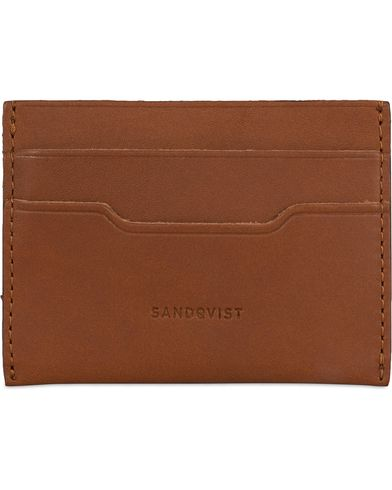Sandqvist Buck Credit Card Case Cognac Brown  i gruppen Assesoarer / Lommebøker / Kortholdere hos Care of Carl (13335110)