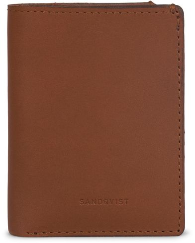 Sandqvist Dow Leather Creditcard Wallet  Cognac Brown  i gruppen Accessoarer / Plånböcker / Vanliga plånböcker hos Care of Carl (13335210)