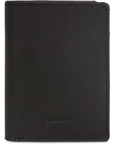 Sandqvist Dow Leather Creditcard Wallet  Black  i gruppen Assesoarer / Lommeb�ker hos Care of Carl (13335310)