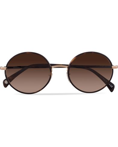 Paul Smith Eyewear Danbury Sunglasses Oak/Brushed Gold Umber Gradient  i gruppen Solglasögon / Runda solglasögon hos Care of Carl (13335410)