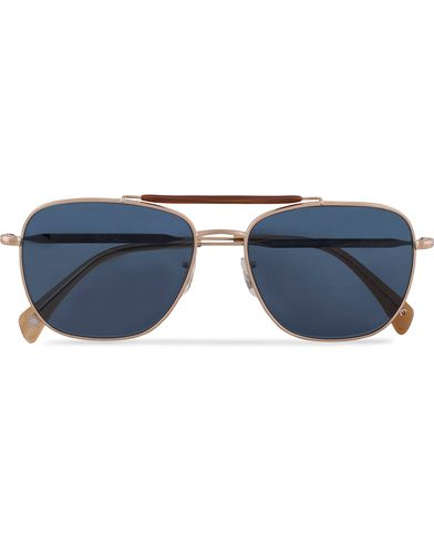 Paul Smith Eyewear Roark Sunglasses Soft Gold/Blue  i gruppen Solglasögon / D-formade solglasögon hos Care of Carl (13335610)