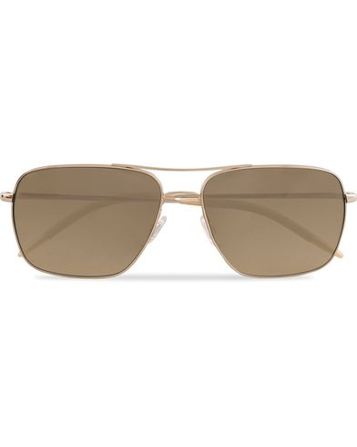 Oliver Peoples Clifton Sunglasses Gold/Olive Photo  i gruppen Solglasögon / Fyrkantiga solglasögon hos Care of Carl (13335810)
