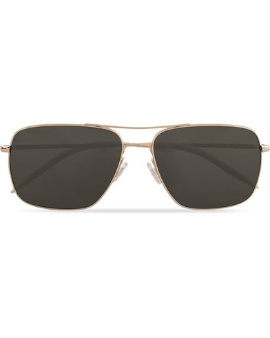 Oliver Peoples Clifton Sunglasses Gold/Polar  i gruppen Solglasögon / Fyrkantiga solglasögon hos Care of Carl (13335910)
