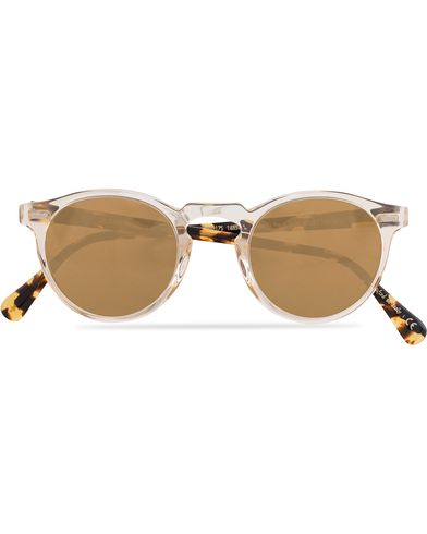 Oliver Peoples Gregory Peck Sunglasses Honey/Gold Mirror  i gruppen Accessoarer / Solglasögon / Runda solglasögon hos Care of Carl (13336110)