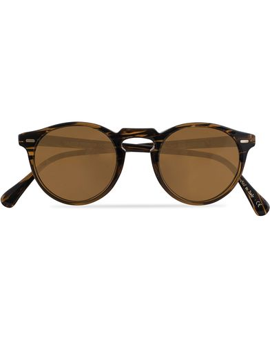 Oliver Peoples Gregory Peck Sunglasses Tortoise Havana/Brown  i gruppen Solglasögon / Runda solglasögon hos Care of Carl (13336210)