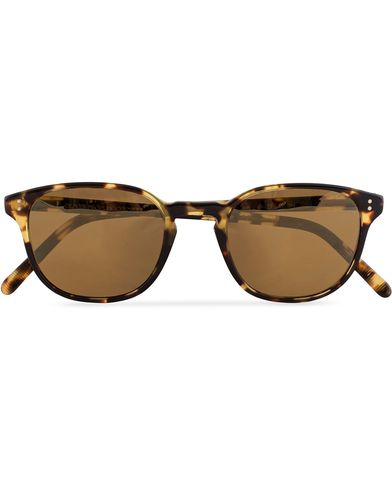 Oliver Peoples Fairmont Sunglasses Vintage Havana/Gold Mirror  i gruppen Solbriller / Buede solbriller hos Care of Carl (13336410)