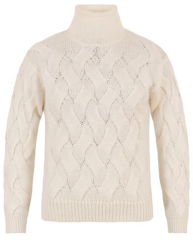 Filippa K Cable Knit Off White i gruppen Assesoarer hos Care of Carl (13337111r)