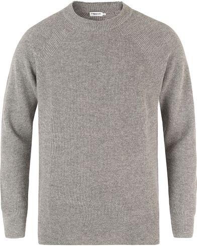 Filippa K Wool Linnen Rib Sweater Grey Melange i gruppen Gensere / Strikkede gensere hos Care of Carl (13338111r)