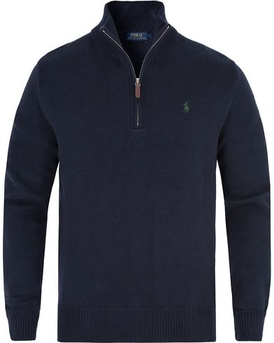 Polo Ralph Lauren Cotton Half Zip Hunter Navy i gruppen Kläder / Tröjor / Zip-tröjor hos Care of Carl (13338411r)