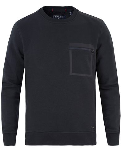 Woolrich Hightech Fleece Crew Neck Sweatshirt Navy i gruppen Gensere / Sweatshirts hos Care of Carl (13338911r)