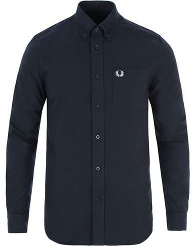Fred Perry Classic Oxford Shirt Navy i gruppen Skjortor / Oxfordskjortor hos Care of Carl (13339711r)