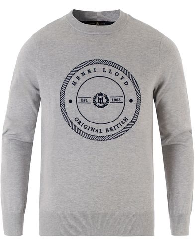 Henri Lloyd Hampton Regular Crew Neck Knit Grey Marl i gruppen Klær / Gensere / Strikkede gensere hos Care of Carl (13340211r)
