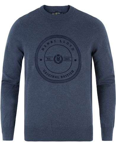 Henri Lloyd Hampton Regular Crew Neck Knit Indigo Marl i gruppen Gensere / Strikkede gensere hos Care of Carl (13340311r)