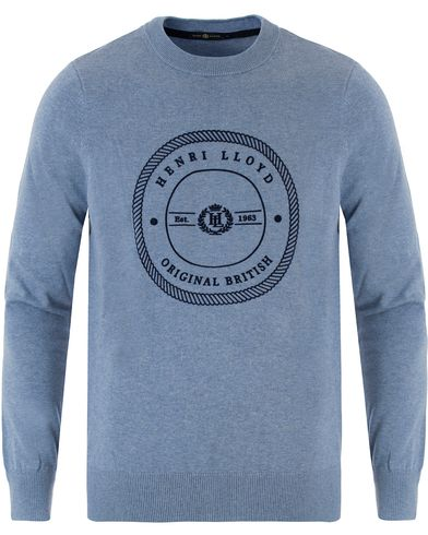 Henri Lloyd Hampton Regular Crew Neck Knit Frost Marl i gruppen Design A / Tröjor / Stickade tröjor hos Care of Carl (13340411r)