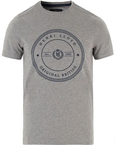 Henri Lloyd James Regular Tee Grey Marl i gruppen T-Shirts / Kortermede t-shirts hos Care of Carl (13340611r)