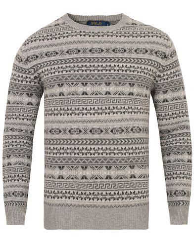 Polo Ralph Lauren Fairisle Crewneck Grey i gruppen Tröjor / Stickade tröjor hos Care of Carl (13343211r)