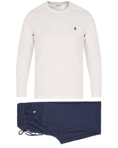 Polo Ralph Lauren Sleepwear Gift Box Set White/Cruise Navy i gruppen Underkl�der / Pyjamas hos Care of Carl (13343811r)