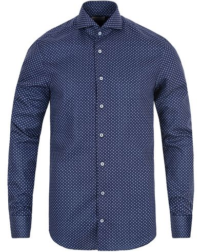 Stenstr�ms Slimline Dot Shirt Blue i gruppen Skjorter / Casual Skjorter hos Care of Carl (13344211r)