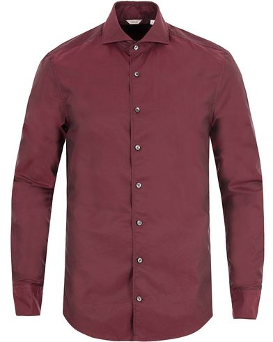 Stenströms Slimline Shirt Wine Red i gruppen Klær / Skjorter / Casual skjorter hos Care of Carl (13344311r)