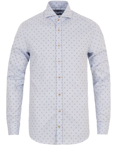 Stenströms Slimline Structure Shirt Light Blue i gruppen Klær / Skjorter / Casual skjorter hos Care of Carl (13344711r)