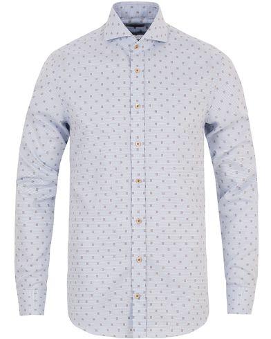 Stenströms Slimline Structure Shirt Light Blue i gruppen Skjortor / Casual skjortor hos Care of Carl (13344711r)
