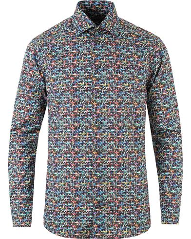 Eton Slim Fit Car Print Poplin Shirt Multi i gruppen Kläder / Skjortor / Casual skjortor hos Care of Carl (13346211r)