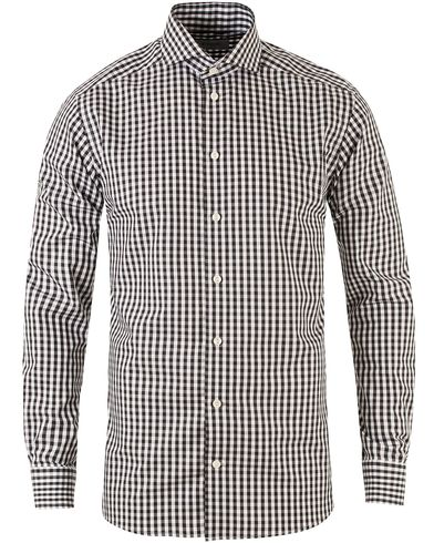 Eton Slim Fit Check Poplin Shirt Black i gruppen Skjorter / Casual skjorter hos Care of Carl (13346411r)