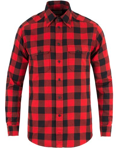 Eton Slim Fit Flannel Check Shirt Red i gruppen Skjortor / Flanellskjortor hos Care of Carl (13346511r)