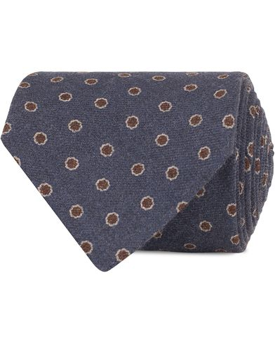 Eton Dot Wool 8 cm Tie Blue  i gruppen Accessoarer / Slipsar hos Care of Carl (13346810)