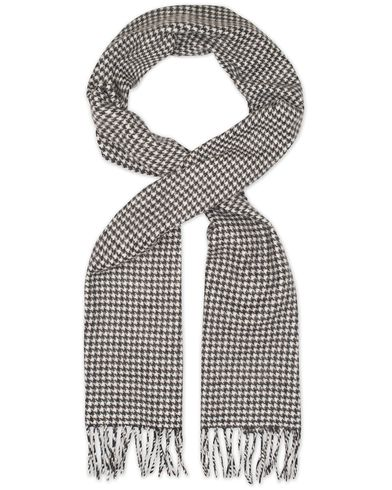 Eton Dogtooth Wool Scarves Black/White  i gruppen Accessoarer / Halsdukar hos Care of Carl (13347310)