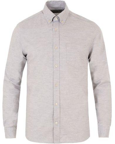 J.Lindeberg Daniel Button Down Shirt Grey Melange i gruppen Skjortor / Casual skjortor hos Care of Carl (13448011r)