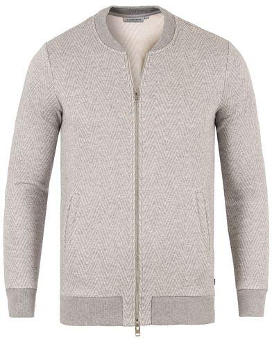 J.Lindeberg Randall ZigZag Zip Jacket Grey Melange i gruppen Klær / Gensere / Zip-gensere hos Care of Carl (13448111r)