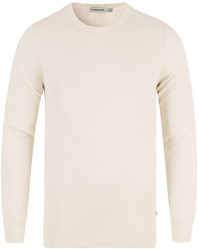 J.Lindeberg Dexter Circle Structure Sweater Off White i gruppen Tröjor / Stickade tröjor hos Care of Carl (13448311r)