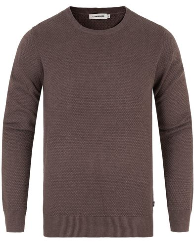 J.Lindeberg Dexter Circle Structure Sweater Brown i gruppen Gensere / Strikkede gensere hos Care of Carl (13448411r)