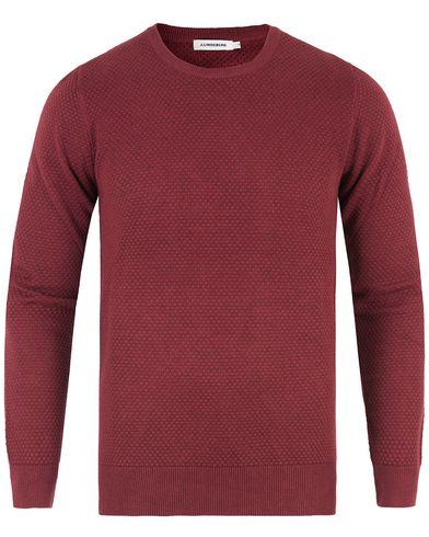 J.Lindeberg Dexter Circle Structure Sweater Burgundy Melange i gruppen Tröjor / Stickade tröjor hos Care of Carl (13448511r)