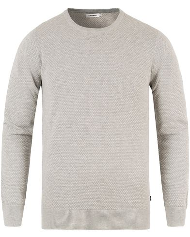 J.Lindeberg Dexter Circle Structure Sweater Grey Melange i gruppen Gensere / Strikkede gensere hos Care of Carl (13448611r)