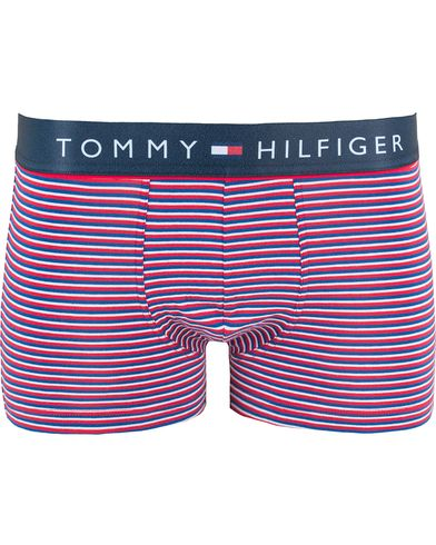 Tommy Hilfiger Cotton Flex  Striped Trunk Tango Red i gruppen Kläder / Underkläder hos Care of Carl (13449111r)